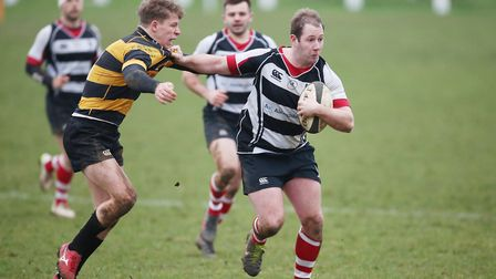 Harpenden hold off Letchworth during an attack. Picture: DANNY LOO