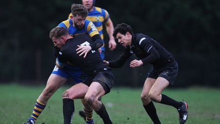 St Albans V Wasps - Jacob Swain in action for St Albans.Picture: Karyn Haddon