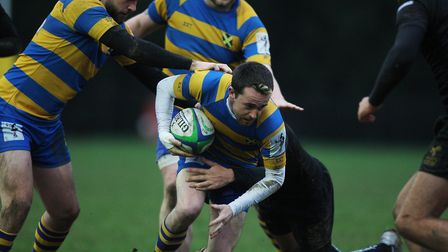 St Albans V Wasps - George Trude in action for St Albans.Picture: Karyn Haddon