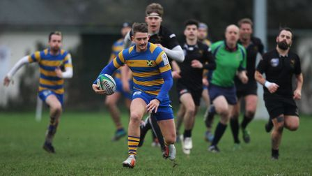 St Albans V Wasps - George Saunders in action for St Albans.Picture: Karyn Haddon