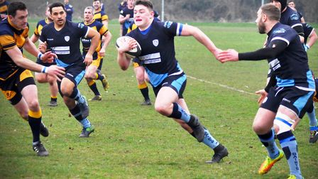 Three Aiden Jordan tries were not enough for St Neots against Daventry. Picture: CAROL BERWICK