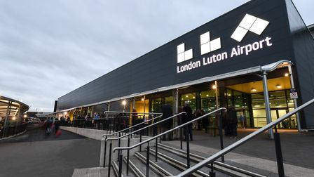 The newly upgraded terminal at London Luton Airport was officially opened by Transport Secretary Chr
