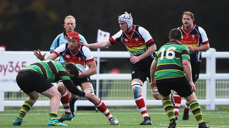 Oli Lacey in action for Harpenden.Picture: Karyn Haddon