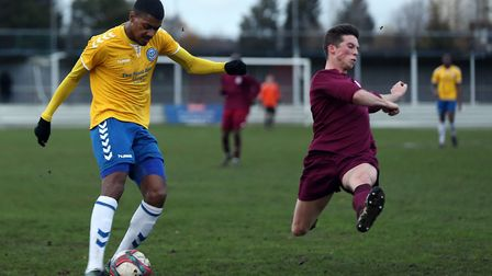 St Albans City's newest signing, Jordan Sanderson, has been building his fitness up at Essex Senior