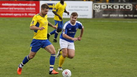 David Noble's goal gave St Albans City the win against Hertford Town in the Herts Senior Cup. Pictur