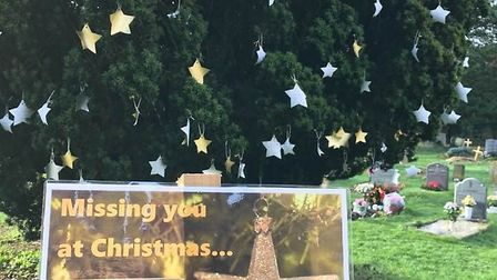 The 'Missing You at Christmas' tree at St Helen's Church in Wheathampstead. Picture: Rob Milner