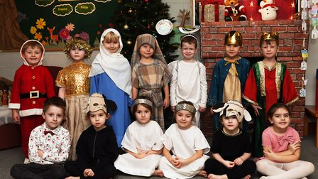 Children from the Early Years at Bushmead Infants School performed the first nativity.