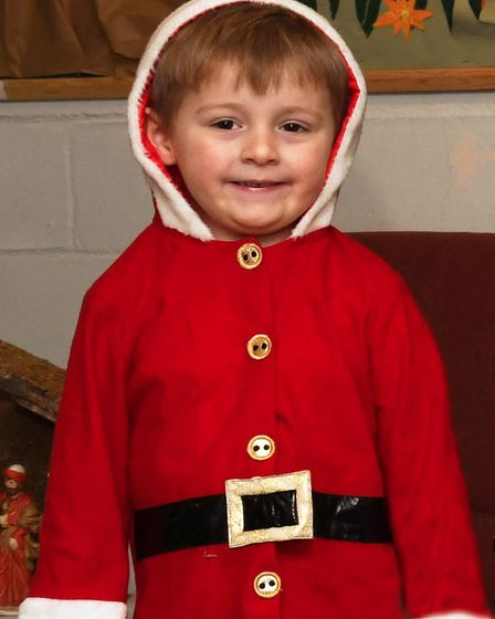 Ben Davies was Father Christmas in the school play