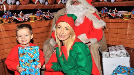 Santa's Grotto was a crowd pleaser at Turn on to Christmas. Picture: Clive Porter