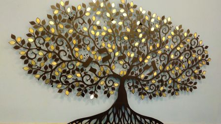 The memorial tree revealed by the St Albans Masorti Synagogue (SAMS). Picture: SAMS