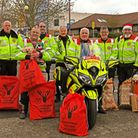 Suffolk and Cambridgeshire BloodRunners drop off presents at Hinchingbrooke Hospital. Picture: ARCHA