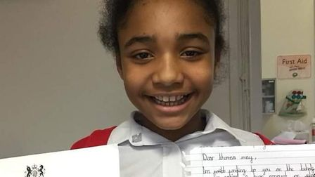 Lily-Rose Gruber wrote a letter to Theresa May about litter in St Albans. Picture: Catherine Higgs