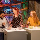 Esmé Gallagher from St Albans (on the right) in the RIGB Christmas Lectures. Picture: Paul Wilkinson