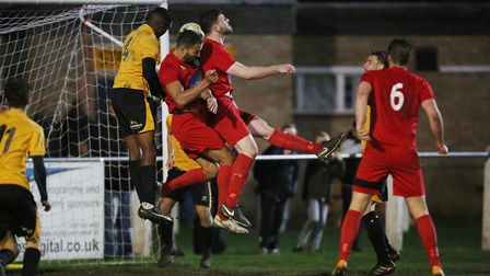 Harpenden pile on the pressure in the closing stages as they push for an equaliser in the match betw