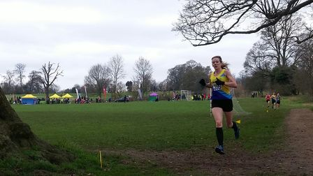 St Albans Striders' Stacey Ward won gold in the senior women's race at the Herts Cross Country Champ