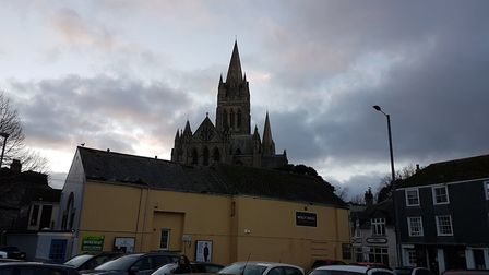 A view of Truro Cathedral before St Albans City battled the home club at Treyew Road. Picture: NEIL