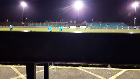 The view from the press box at Treyew Road if you didn't sit up straight in your seat. Picture: NEIL