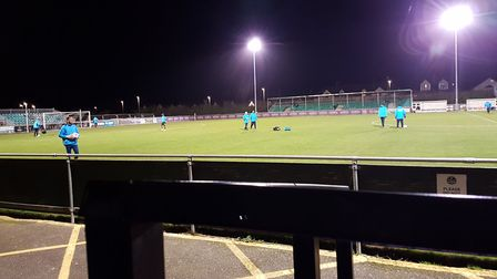 The view from the press box at Treyew Road if you did sit up straight in your seat. Picture: NEIL ME