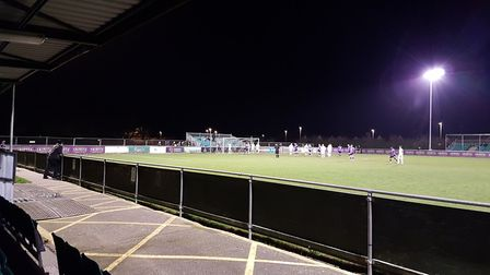 St Albans City battled Truro City on a Tuesday night at Treyew Road. Picture: NEIL METCALFE