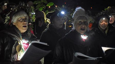 The traditional wassailing ceremony in Highfield Park, St Albans. Picture: Highfield Park Trust
