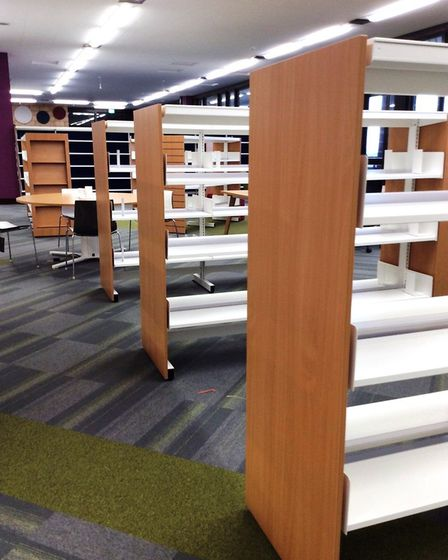 New shelving at St Albans Library. Picture: Hertfordshire County Council Library Service