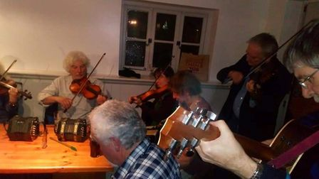 Some light entertainment at The Three Tuns pop-up pub night. Picture: Guilden Morden Community Pub