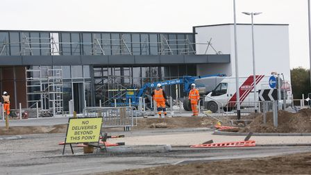 Construction of the Aldi and M&S in Royston. Picture: DANNY LOO