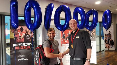 Cambourne gym welcomes its millionth customer. Picture: CONTRIBUTED
