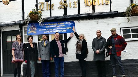 The Save St Albans Pubs campaign, outside The Six Bells. Picture: Submitted by Save St Albans Pubs