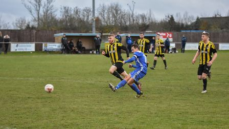 Godmanchester Rovers captain Micky Hyem scored both goals as they were held to a home draw by Branth