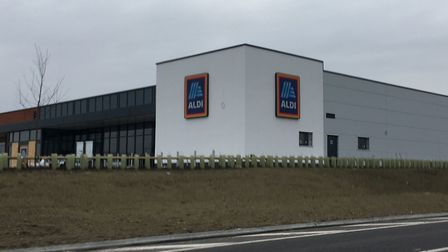 Royston's new Aldi store seen from the A505. Picture: Archant