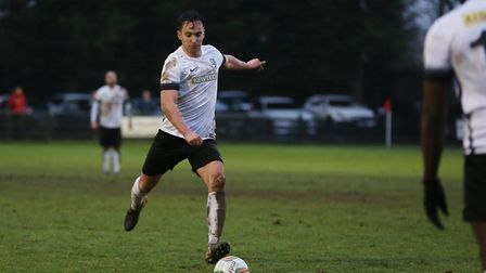 Royston Town's Sam Corcoran is one of a number of ex-St Albans City players in the Crows' ranks. Pic