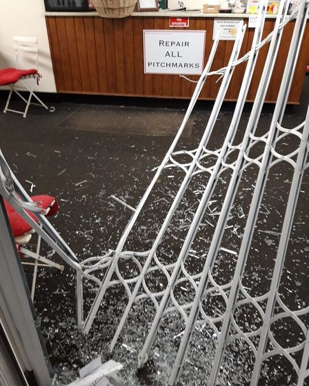 Damage following the burglary at Wheathampstead Golf Club on Sunday. Picture: Wheathampstead Golf Cl