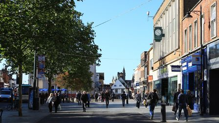 A teenage girl was assaulted in St Peters Street, St Albans city centre. Picture: Danny Loo