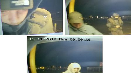 Police are hoping to trace the people in these CCTV images. Picture: Cambs police
