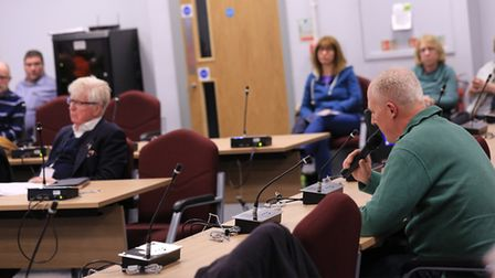 Clive Hall addresses North Herts District Council. Picture: David Hatton