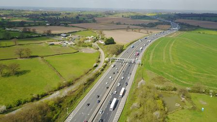 Drivers should expect delays on the M25 near St Albans. Picture: Atlas Drones