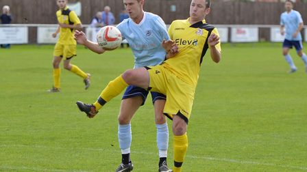 Jack Chandler scored twice as Godmanchester Rovers won at Wroxham. Picture: DUNCAN LAMONT