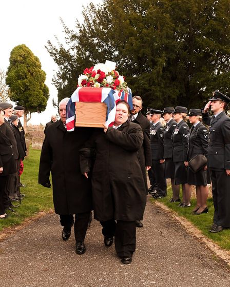 Serving members of the armed forces and members of the Royal British Legion attended the funeral. Pi