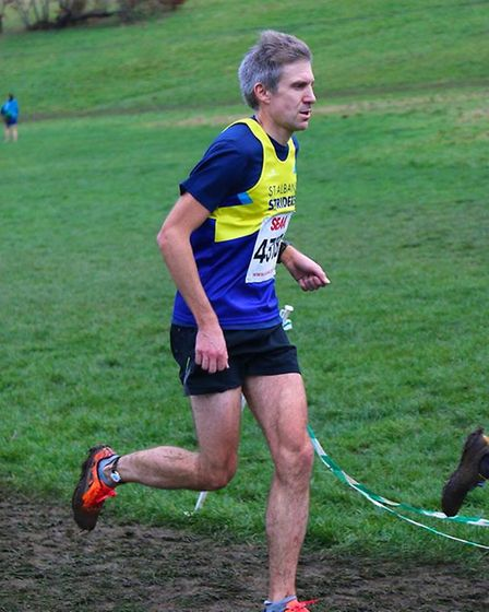 St Albans Striders' Jonathan Scott at the Southern Senior Cross Country Championship. Picture: TONY