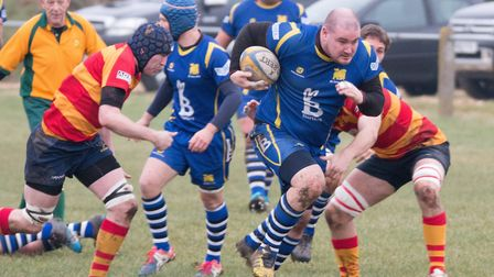 Duncan Williams scored two of the tries as St Ives bashed Market Bosworth. Picture: PAUL COX