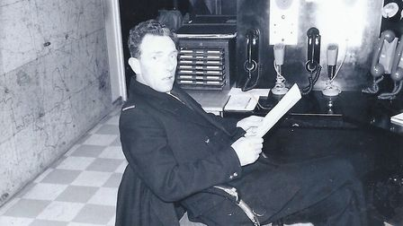 Tony Bowers in the watch room at the old Huntingdon Fire Station