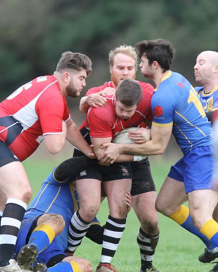 Verulamians V Royston - Number 8 in action for Royston.Picture: Karyn Haddon