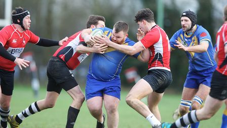 Verulamians V Royston - Mike Ainsworth in action for Verulamians.Picture: Karyn Haddon