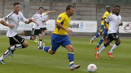 St Albans City will decide late on the fitness of Ben Herd for the visit of Weston-super-Mare. Pictu