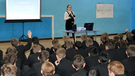 Herts Young Carers give talks in schools to raise awareness and support for young carers. Picture: C