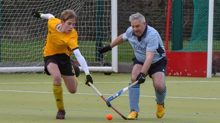 Action from St Neots 3rds' 2-1 defeat to Horncastle 2nds in the East Men's League. Picture: J BIGGS