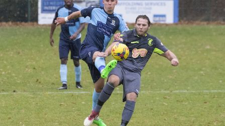 Tom Wood converted the winning penalty for St Neots Town at Yaxley. Picture: CLAIRE HOWES