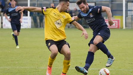 James Hall scored the first goal of his latest St Neots Town spell. Picture: CLAIRE HOWES