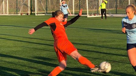 New signing Ruth Fox made a goalscoring debut for St Ives Town Ladies.